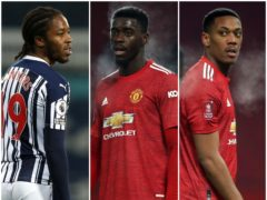 Romaine Sawyers, Axel Tuanzebe and Anthony Martial (PA)