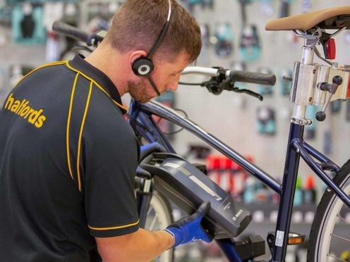 Halfords revealed a strong boost in sales during the run up to Christmas (Halfords/PA)