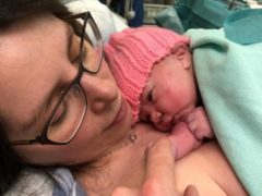 Baby Isabelle was born at 12.54am on New Year's Day (NHS Lothian/PA)