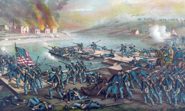 The Battle of Fredericksburg, Virginia, which took place in December 1862.
