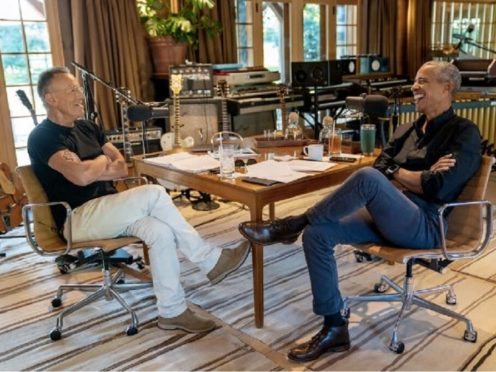 Barack Obama has teamed up with Bruce Springsteen for a new podcast series on Spotify, the music streaming giant said (Rob DeMartin/Spotify/PA)
