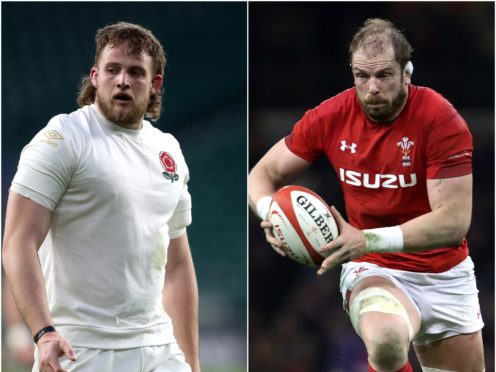 Jonny Hill (left) is an admirer of Alun Wyn Jones (right), PA