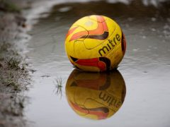 A waterlogged pitch led to Exeter's game against Grimsby being postponed (Nigel French/PA)