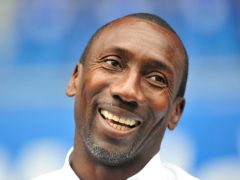 Jimmy Floyd Hasselbaink was all smiles after Burton's win (Simon Galloway/PA)