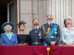 The Queen, Duchess of Sussex, Duke of Sussex, Duke of Cambridge, and the Duchess of Cambridge (Paul Grover/Daily Telegraph/PA)