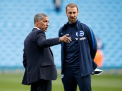 Glenn Murray, right, and Chris Hughton enjoyed plenty of success during their time together at Brighton (Martin Rickett/PA)
