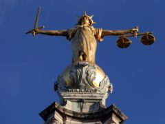 FW Pomeroy's Statue of Justice at the Old Bailey, London (PA)