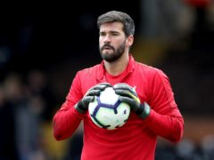 Liverpool keeper Alisson Becker is in mourning after the death of his father (Adam Davy/PA)