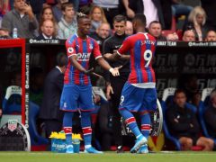 Crystal Palace lost a second consecutive defeat since Wilfried Zaha suffered a hamstring injury earlier this month (Nigel French/PA)