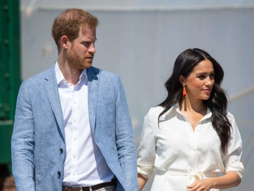 Harry and Meghan signed a multi-year deal last year with audio streaming service Spotify (Dominic Lipinski/PA)