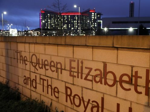 A 17-year-old man was taken to the Queen Elizabeth University Hospital in Glasgow for treatment (Andrew Milligan/PA)