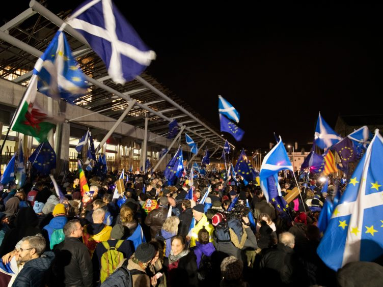 The poll is the first since June to show no lead for independence (Jane Barlow/PA)