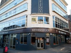 The Bright Helm Wetherspoons pub in Brighton sits closed after Prime Minister Boris Johnson made the decision to put the UK in lockdown to help curb the spread of the coronavirus.