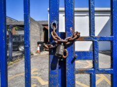 A locked business (Ben Birchall/PA)