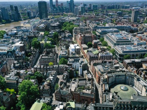 A view of London, where off-plan home sales tend to be highest (Steve Parsons/PA)