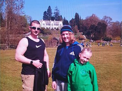Joshua Flynn, 37, his son Coby-Jay Flynn, 15, and daughter Skylar Flynn, 12, who were all killed by David Logan in a road collision in Dalton-in-Furness (Cumbria Police/PA)