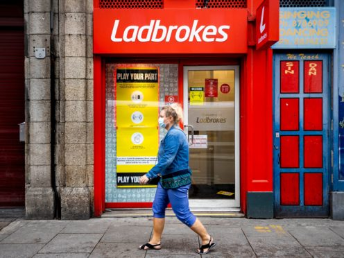 A Ladbrokes betting shop (Liam McBurney/PA)