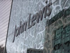 John Lewis department store signage in Leicester (Mike Egerton/PA)