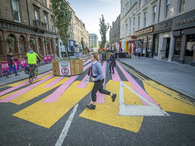 High Streets, like Dundee, have already began pedestrianising (Jane Barlow/PA)