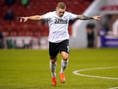 Martyn Waghorn could be set for a recall to the Derby side against Nottingham Forest on Friday night (Tim Goode/PA)