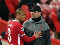 Liverpool manager Jurgen Klopp has to deal with yet another injury in defence as Fabinho is out with a muscle strain (Michael Regan/PA)