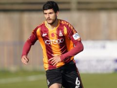 Anthony O'Connor scored on his 100th appearance for Bradford (Tess Derry/PA)