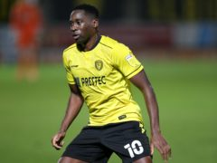 Lucas Akins wrapped up victory for rejuvenated Burton (Nigel French/PA)