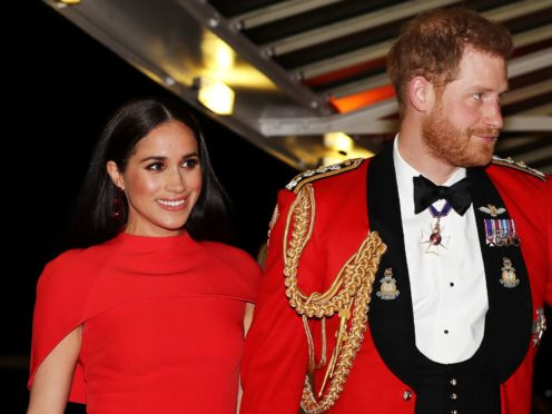 The Duke and Duchess of Sussex's former patronages have thanked them for their support (Simon Dawson/PA)