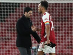 Arsenal manager Mikel Arteta did not confirm whether captain Pierre-Emerick Aubameyang broke protocols by getting a tattoo. (Nick Potts/PA)