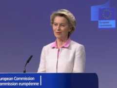 """Ursula von der Leyen said the European Commission is exploring all """"flexibilities"""" available within Northern Ireland's post-Brexit trade deal (PA Video)."""