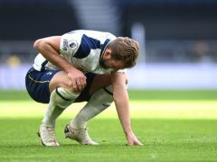 Harry Kane is missing for Tottenham against Chelsea with an ankle injury (Andy Rain/PA)