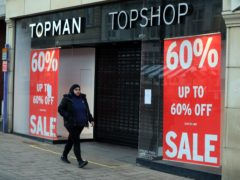 A closed Topman/Topshop store in Loughborough, Leicestershire (Mike Egerton/PA)
