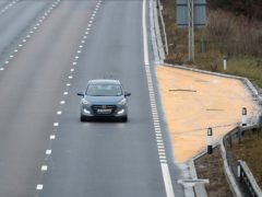 A measure aimed at boosting smart motorway safety will be completed ahead of schedule, Transport Secretary Grant Shapps has announced (Martin Rickett/PA)