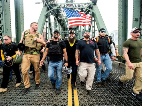 Members of the Proud Boys (Noah Berger/AP)