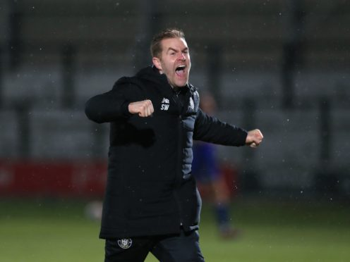 Harrogate manager Simon Weaver was delighted with his side's second half display (Mike Egerton/PA)
