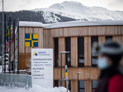 The congress centre in Davos (Gian Ehrenzeller/Keystone via AP)