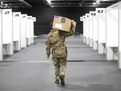 The Royal Scots Dragoon Guards have already been helping with the setting up of mass Covid vaccination centre (Jane Barlow/PA)