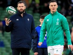 Johnny Sexton, right, is satisfied that Ireland are making progress under head coach Andy Farrell, left (Donall Farmer/PA)