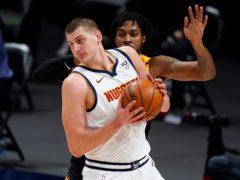 Nikola Jokic could not help Denver over the line (David Zalubowski/AP)
