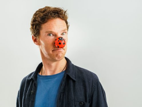 Benedict Cumberbatch in this year's Red Nose Day fundraising campaign (Jacqui Black/Comic Relief/PA)