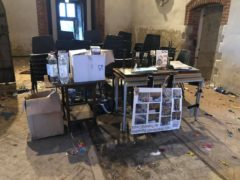 The clean-up operation at All Saints in East Horndon (Friends of All Saints East Horndon/PA)