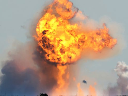 SpaceX's bullet-shaped Starship prototype explodes after crashing (Miguel Roberts/The Brownsville Herald/AP)