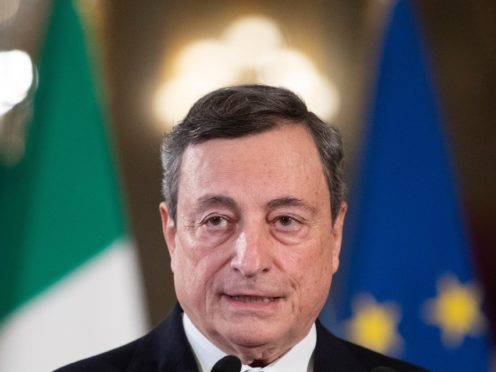 Mario Draghi is credited with having saved the euro during Europe's debt crisis (Alessandra Tarantino, Pool/AP)