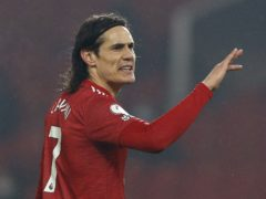 Edinson Cavani is expected to be fit to face Everton (Phil Noble/PA)