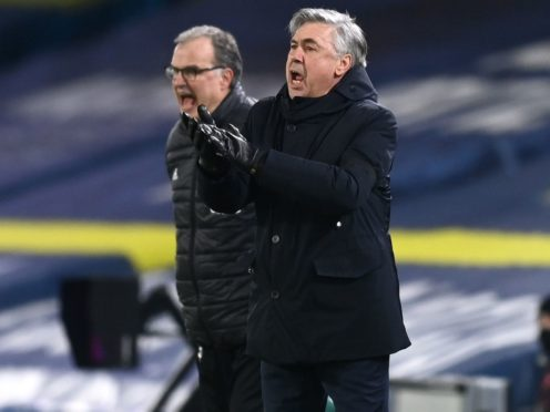 Carlo Ancelotti's side won 2-1 at Leeds (Michael Regan/PA)