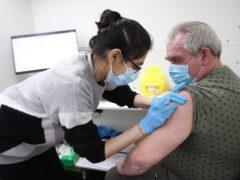 Someone receives a vaccination (Yui Mok/PA)