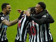 Newcastle's Joe Willock (right) celebrates his goal against Southampton (Owen Humphreys/PA)