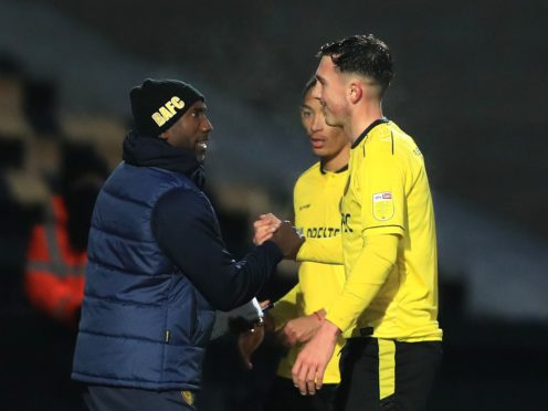 Jimmy Floyd Hasselbaink has won three of his five matches since he returned to Burton on January 1 (Mike Egerton/PA)