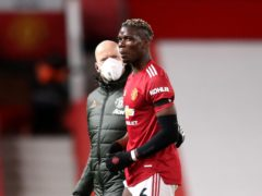 Paul Pogba went off injured against Everton on Saturday (Alex Pantling/PA)