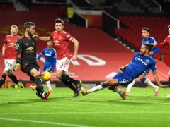 Dominic Calvert-Lewin scored a last-gasp equaliser for Everton (Michael Regan/PA)